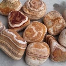 Декоративный природный камень натуральный галька / Angel Sparks-Sherry pebbles / Турция / 2-4 см.